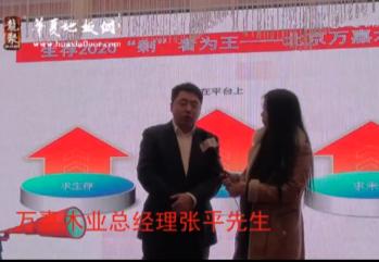 万嘉木业总经理张平先生中国北京第二届地板企业家联谊会暨颁奖晚会现场接受华夏地板网专访