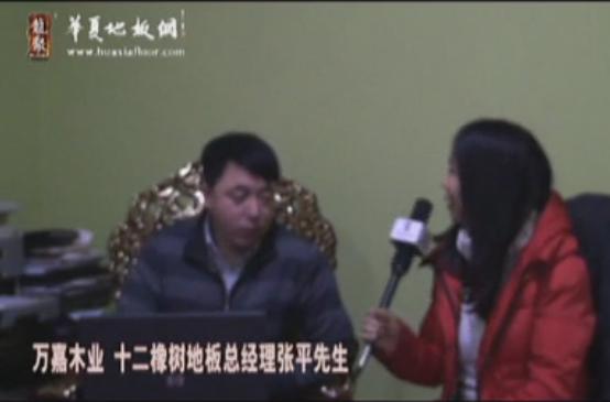 12橡树地板总经理张平接受华夏地板网专访